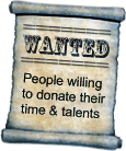 Wanted: People willing to donated their time & talents